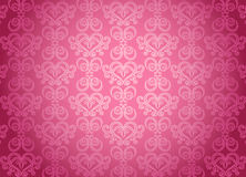 Teste padrão decorativo cor-de-rosa luxuoso ilustração stock