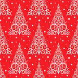Teste padrão decorativo da árvore de Natal Fotografia de Stock Royalty Free