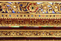 Teste padrão decorativo da arte tailandesa imagem de stock