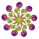 Teste padrão decorativo das cores ilustração stock