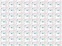 Teste padrão decorativo das flores cor-de-rosa da mola no fundo branco Foto de Stock Royalty Free