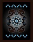 Teste padrão decorativo do círculo Fotografia de Stock