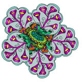 Teste padrão decorativo do fundo abstrato da planta com folhas Imagens de Stock Royalty Free
