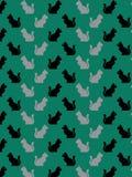 Teste padrão decorativo do gato Imagens de Stock Royalty Free