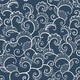 Teste padrão decorativo do laço branco sem emenda com ondas Fotos de Stock Royalty Free