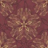 Teste padrão decorativo do laço da flor, fundo com muitos detalhes ilustração royalty free