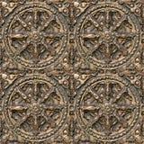 Teste padrão decorativo do metal Foto de Stock