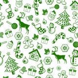 Teste padrão decorativo do Natal ilustração stock
