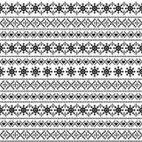 Teste padrão decorativo do Natal e do ano novo com flocos de neve Imagens de Stock