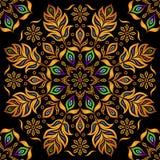 Teste padrão decorativo do ouro Imagens de Stock Royalty Free