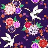 Teste padrão decorativo do quimono Fotografia de Stock Royalty Free