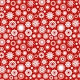 Teste padrão decorativo dos flocos de neve do Natal Fotografia de Stock