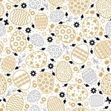 Teste padrão decorativo dos ovos da Páscoa sem emenda Imagens de Stock Royalty Free