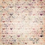 teste padrão decorativo dos Valentim do coração da Mulit-cor fotografia de stock royalty free