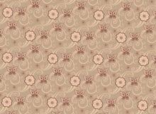 Teste padrão decorativo floral ilustração do vetor