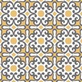 Teste padrão decorativo para o fundo, a telha e as matérias têxteis imagem de stock