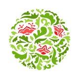 Teste padrão decorativo redondo da flor Imagem de Stock Royalty Free