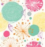 Teste padrão decorativo sem emenda com detalhes abstratos ilustração do vetor