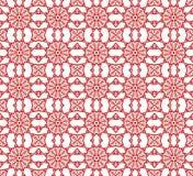 Teste padrão decorativo sem emenda no cores vermelhas Fotos de Stock Royalty Free