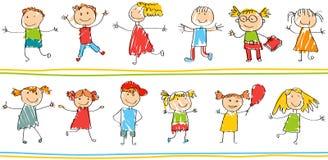 Teste padrão decorativo sem emenda para crianças ilustração do vetor