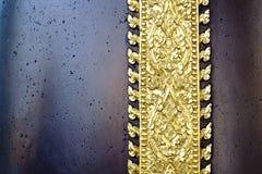 Teste padrão decorativo tailandês dourado, fundo Fotografia de Stock Royalty Free