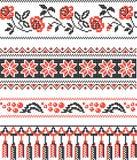 Teste padrão decorativo ucraniano ilustração stock