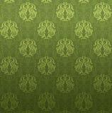 Teste padrão decorativo verde Imagem de Stock Royalty Free