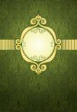 Teste padrão decorativo verde ilustração stock
