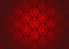 Teste padrão decorativo vermelho luxuoso Foto de Stock Royalty Free