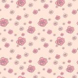 Teste padrão delicado das rosas com as flores grandes e pequenas Imagens de Stock