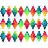 Teste padrão desconcertado colorido ilustração stock