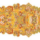 Teste padrão desenhado à mão abstrato da beira seamless Fotografia de Stock