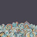 Teste padrão desenhado à mão abstrato da beira seamless Imagens de Stock