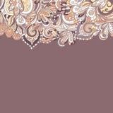 Teste padrão desenhado à mão abstrato da beira seamless Imagem de Stock Royalty Free