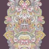 Teste padrão desenhado à mão abstrato da beira seamless Imagem de Stock