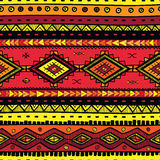Teste padrão desenhado à mão abstrato sem emenda do ethno, fundo tribal Fotografia de Stock Royalty Free