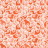 Teste padrão desenhado à mão abstrato vermelho sem emenda, fundo das ondas O teste padrão sem emenda pode ser usado para o papel  ilustração stock