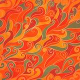 Teste padrão desenhado à mão da onda sem emenda ilustração do vetor