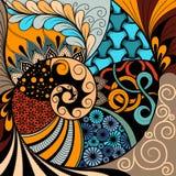 Teste padrão desenhado à mão do zentangle do ethno, fundo tribal Pode ser usado para o papel de parede, o página da web, os sacos ilustração stock
