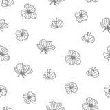 Teste padrão desenhado mão ilustração royalty free
