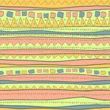 Teste padrão desenhado mão Foto de Stock Royalty Free