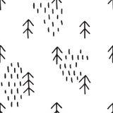 Teste padrão desenhado mão Fotografia de Stock