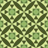 Teste padrão diagonal sem emenda com verde geométrico e floral do teste padrão Imagem de Stock Royalty Free