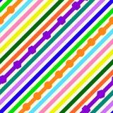 Teste padr?o diagonal sem emenda das listras de cores diferentes ilustração stock