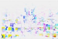 Teste padrão digital da tela do pulso aleatório branco, moderno ilustração do vetor