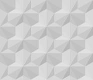 Teste padrão dimensional protegido do vetor triângulo geométrico branco sem emenda ilustração do vetor
