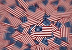 Teste padrão diminuto do fundo das bandeiras americanas Imagem de Stock Royalty Free