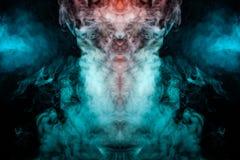 Teste padrão dinâmico, místico, espetacular, translúcido da cabeça foto de stock
