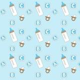 Teste padrão do ícone do bebê Fotografia de Stock