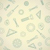 Teste padrão do ícone dos mecânicos Fotografia de Stock Royalty Free